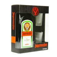 Jägermeister - Coffret liqueur Jägermeister 35% et ses 3 verres