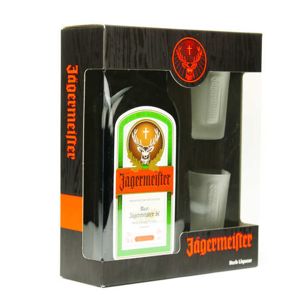 Jägermeister Liqueur 35% Box with 3 glasses