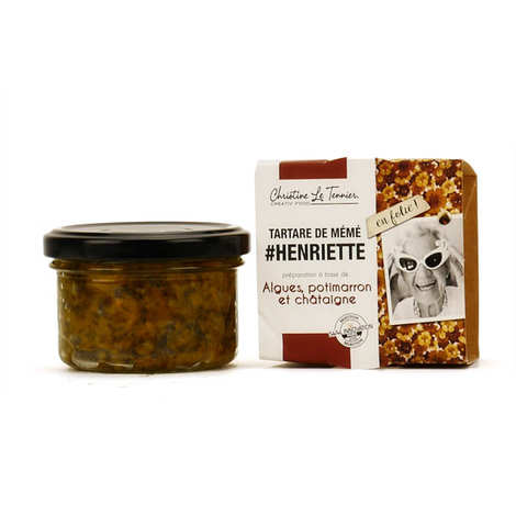 Christine Le Tennier - Seaweed Tartar with Winter Squash and Chestnut