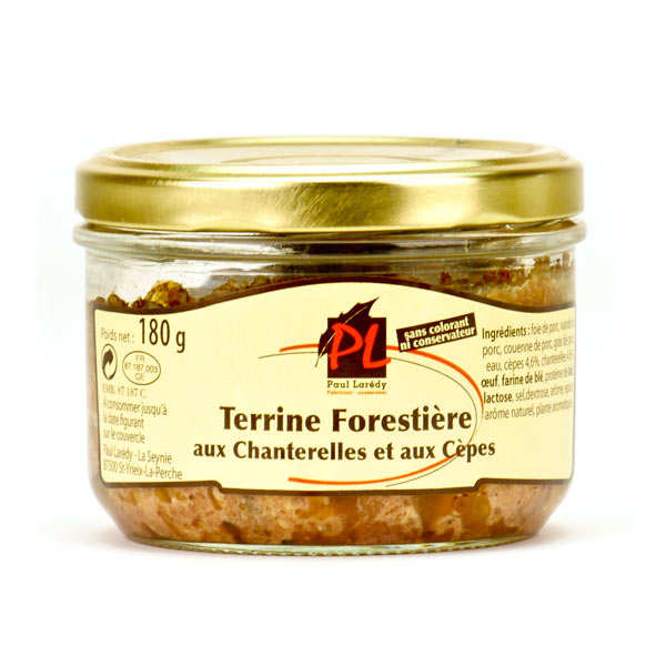 Chanterelle and Porcini Mushrooms Pork Terrine