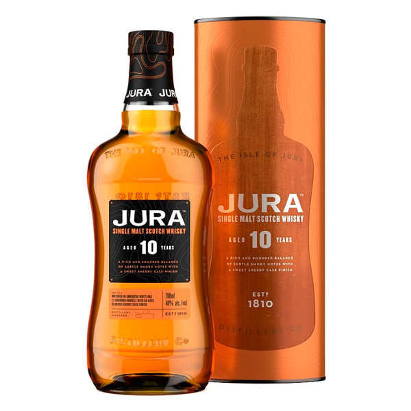 The Isle of Jura - Single Malt Whisky - 10 years old - 40%