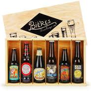 BienManger paniers garnis - Caisse bois de 6 bières craft du monde