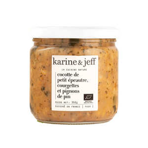 Karine & Jeff - Organic Einkorn Wheat, Courgette and Pine Kernel Meal