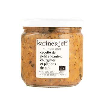 Karine & Jeff - Cocotte petit épeautre, courgettes et pignons bio