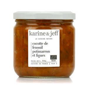 Karine & Jeff - Cocotte de fenouil, potimarron et figues bio