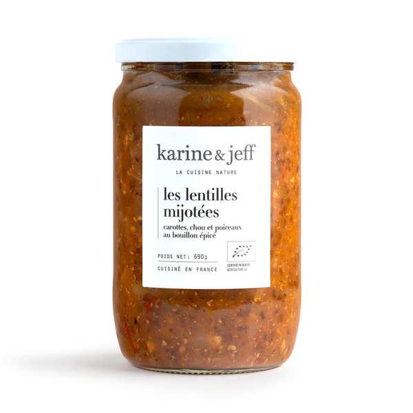 Organic and Vegan 'Petit Salé' with lentils