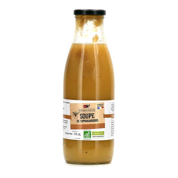 Organic potimarron soup bottle