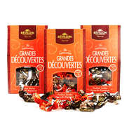 "Revillon chocolatier - Lot de 3 ballotins de 240g de papillotes Révillon ""Les grandes découvertes"""