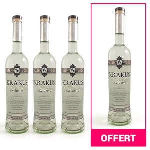 Krakus - 3 bouteilles de Vodka polonaise Krakus Exclusive + 1 offerte