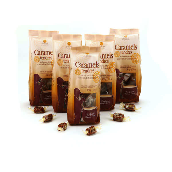 5 Packets of Salted Butter Caramels with Guérande salt