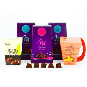 Chocolat Mathez - Assortiment de 5 ballotins de truffes Mathez
