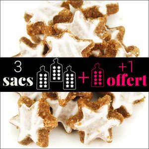 Fortwenger - Lot de 3 sachets d'étoiles à la cannelle + 1 offert