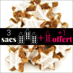 Fortwenger - 3 Packets of Cinnamon Star Biscuits + 1 Free