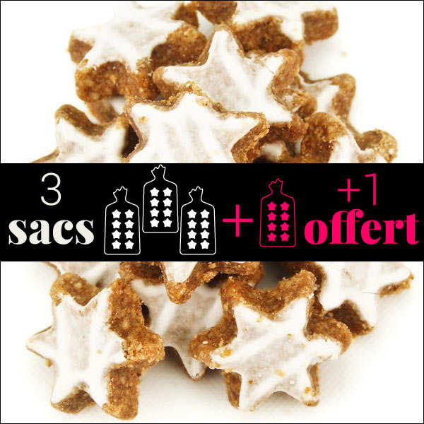 3 Packets of Cinnamon Star Biscuits + 1 Free
