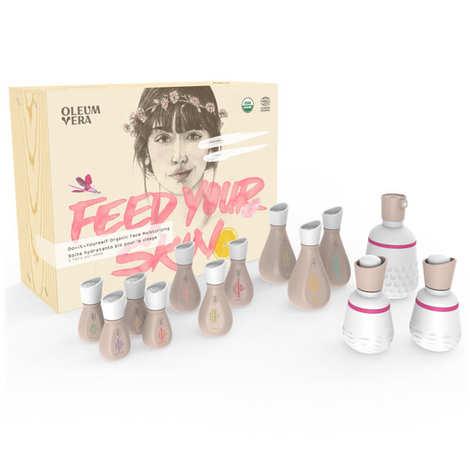 Oleum Vera - Coffret de soins hydratants bio pour le visage à faire soi-même