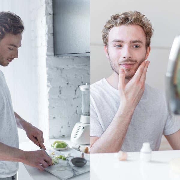Coffret de soins bio pour hommes à faire soi-même