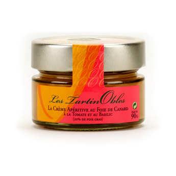 Valette - Crème au foie gras de canard, à la tomate et au basilic