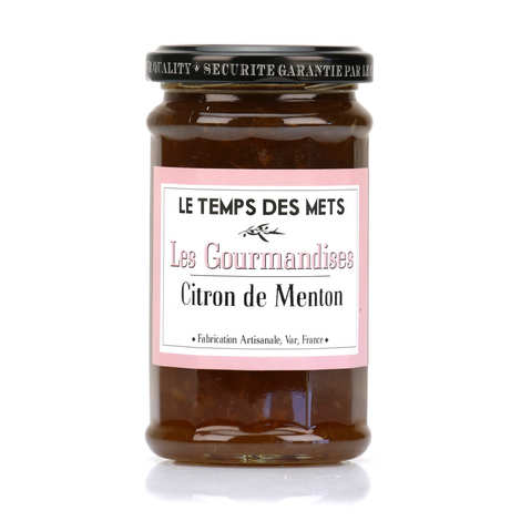 Le Temps des Mets - Jam of lemon from Menton