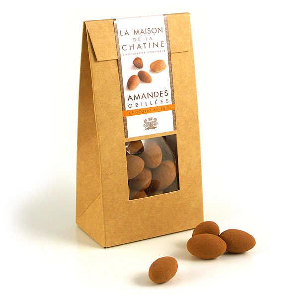 chatines cacao amandes enrob es de chocolat au lait. Black Bedroom Furniture Sets. Home Design Ideas