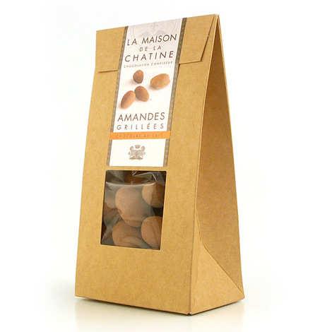 Maison de la Chatine - Chatines cacao - Amandes enrobées de chocolat au lait