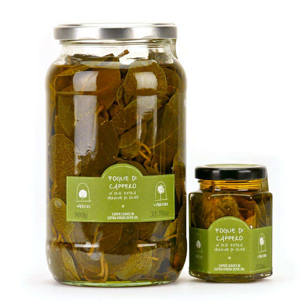 Caper leaves in Extra-virgin olive oil