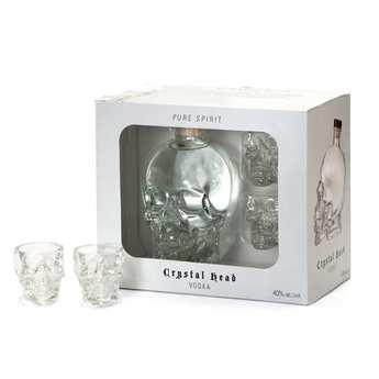 Crystal Head - Vodka Crystal Head 40% - Coffret 2 verres à shot