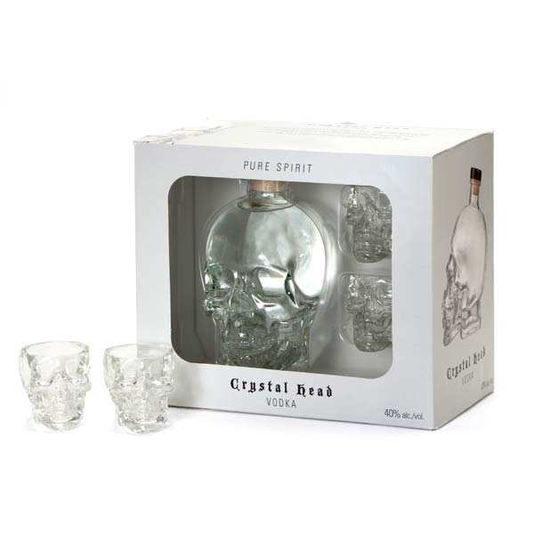 Crystal Head Vodka 40% - 2 glasses gift