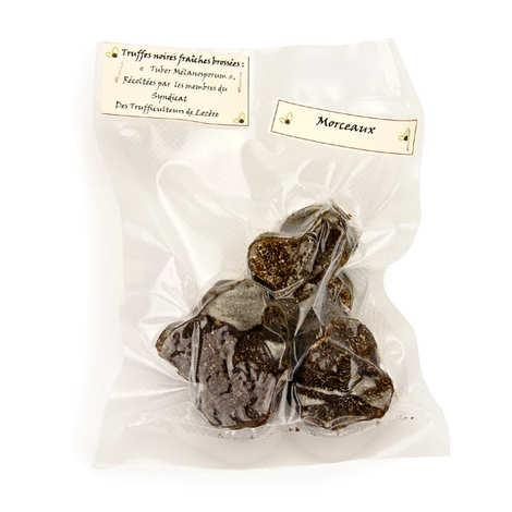 Trufficulteurs de Lozère - Morceaux de truffes noires fraîches de Lozère - Tuber Melanosporum