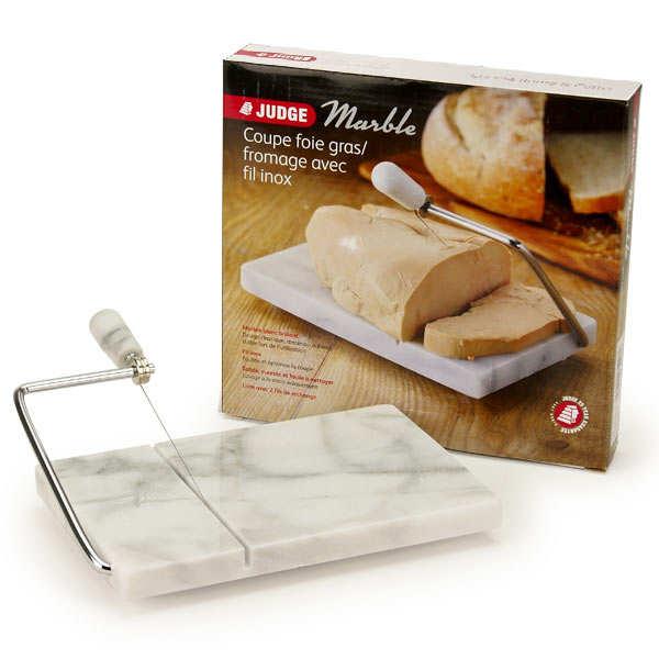 Coupe foie gras et fromage avec guillotine