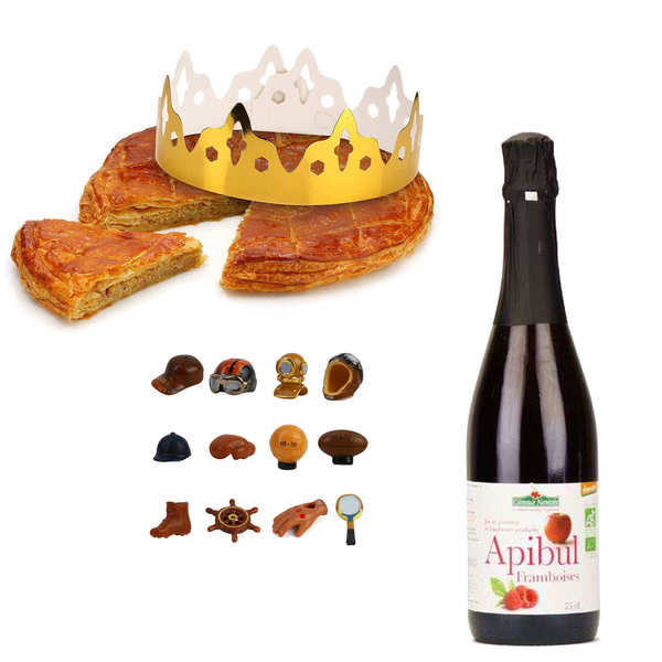 Galette des Rois frangipane with Apibul bottle