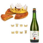 Pâtisserie St Jacques - Galette des rois frangipane with cider bottle