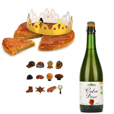 - Galette des Rois frangipane et sa bouteille de cidre