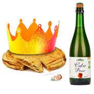 Pâtisserie St Jacques - Galette des rois façon tatin et sa bouteille de cidre