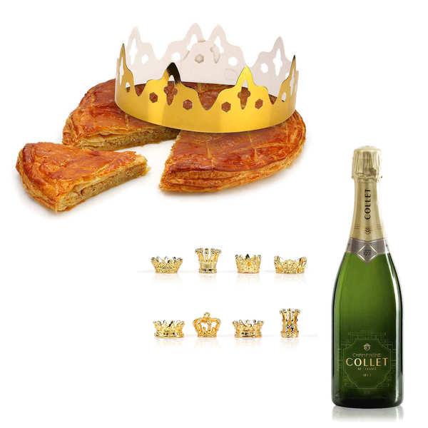 Galette des rois frangipane et sa demi bouteille de Champagne