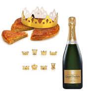 Pâtisserie St Jacques - Galette des rois frangipane et sa bouteille de Champagne