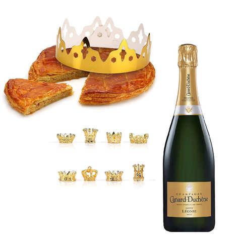 - Galette des Rois frangipane et bouteille de champagne