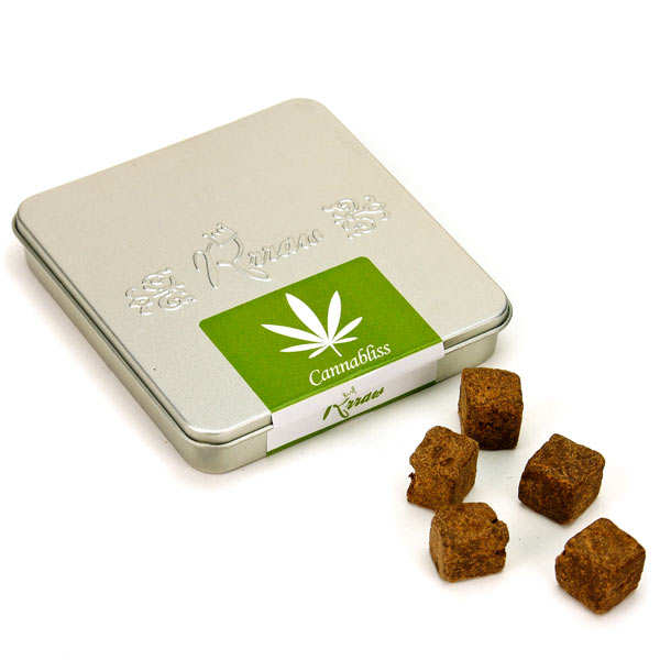 Cannabliss - Raw Chocolate cubes with breton hemp