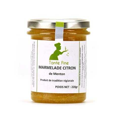 Tante fine - Marmelade de citron de Menton