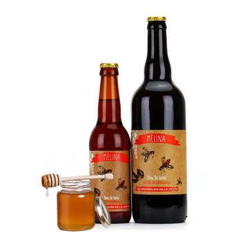 Les brasseurs de la Jonte - Lager French beer Mélina - with Honey 5.5%