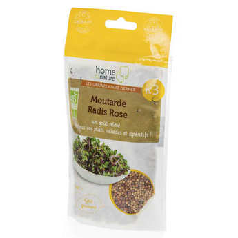 Home to nature - Organic Mustard , Pink Radish - Seeds To Sprout