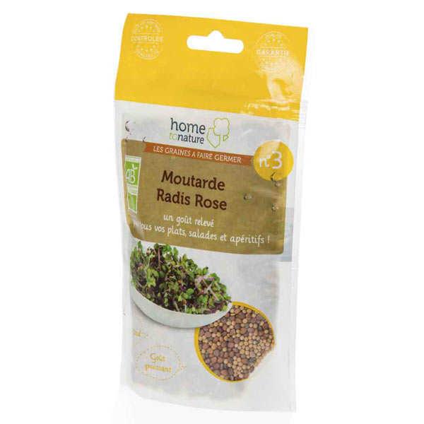 Mélange de graine à germer bio n°3 : Moutarde, radis rose