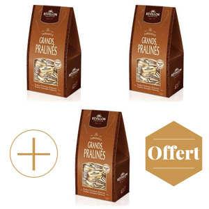 Revillon chocolatier - Papillotes Révillon Grands Pralinés lait 2+1 offert