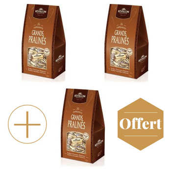 Revillon chocolatier - Christmas papillotes Praline 2+1 for free