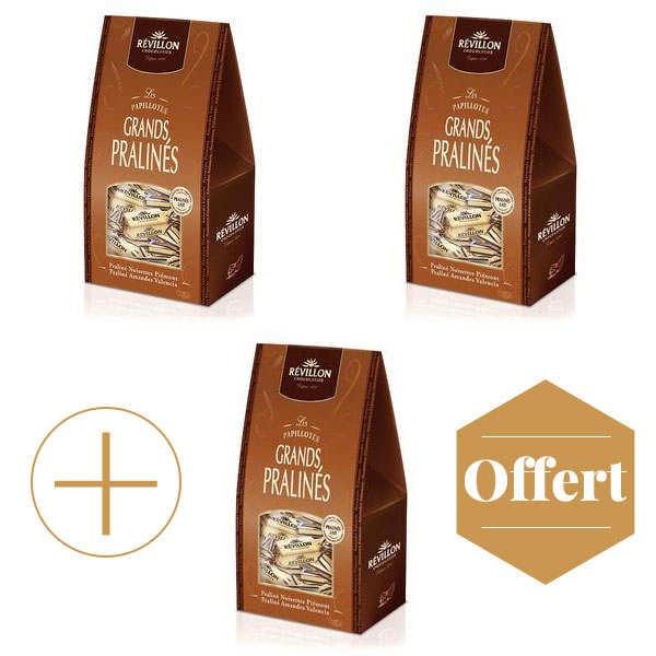 Papillotes Révillon Grands Pralinés lait 2+1 offert
