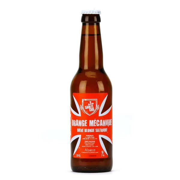 Orange mécanique - bière blonde d'alsace 7% - bouteille 33cl