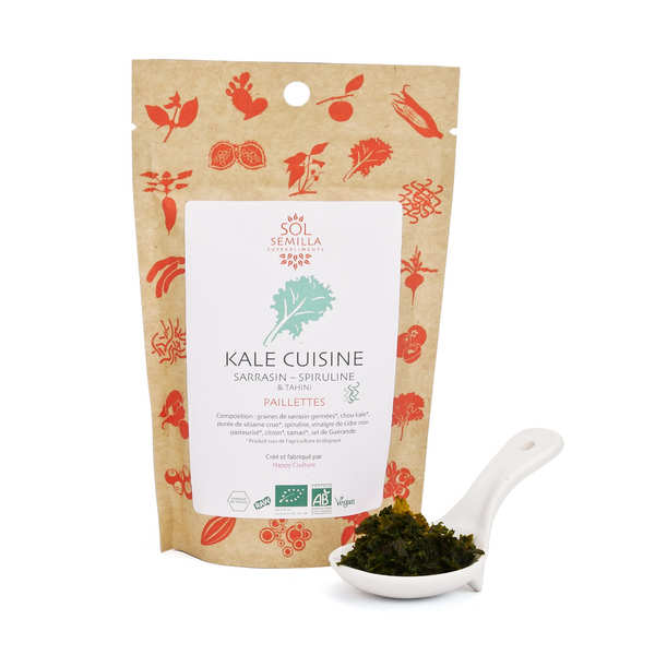 Kale Cuisine - Organic Flake of Kale, Spirulina and Tahini