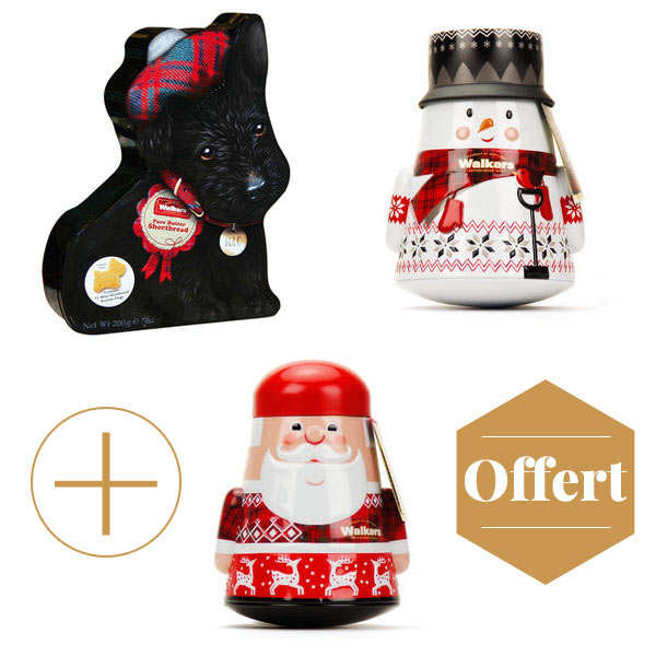 Walkers Shortbread Decorated Tins 2+1 for free