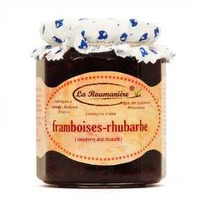 La Roumanière - Confiture framboise rhubarbe