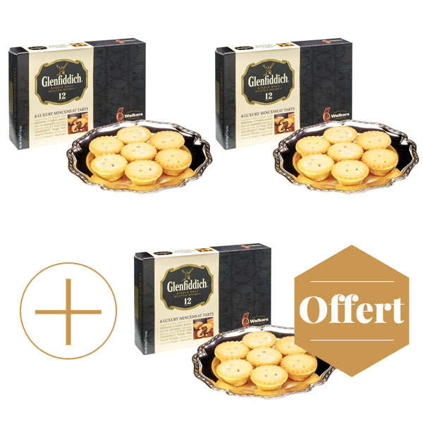 Walkers Luxury Mince Pies with Glennfiddich 2+1 for free