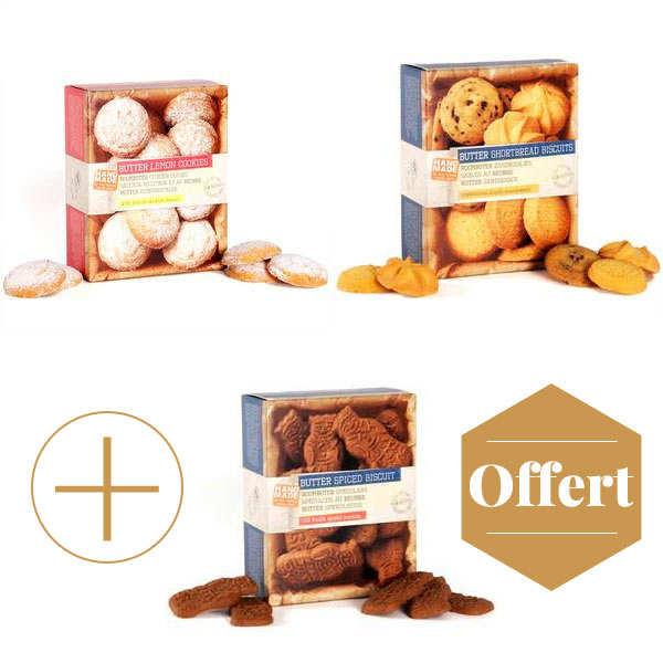 2 paquets de biscuits artisanaux + 1 offert